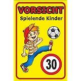Hinweisschild Vorsicht spielende Kinder - 30km /h - Spielstrasse Achtung Warnschild (40x60cm)