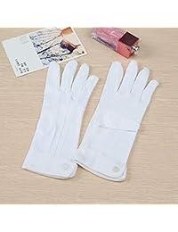 Brandneu Damen-Handschuhe weiß mit Knopf -10 paar