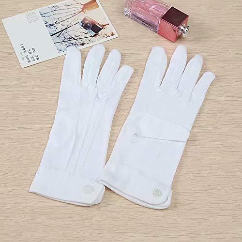 Doyime Weiße Handschuhe Basic Pantomime Zauberer für Damen & Herren - One Size Größe (Handschuhe Zauberer Weiße)