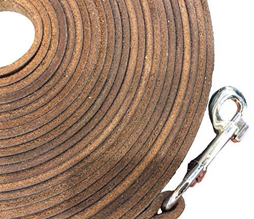 Schnüffelfreunde Schleppleine 10m für Hunde aus Leder - für kleine und große Hunde - Longierleine für Pferde