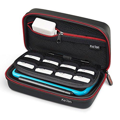 Nintendo NEW 2DS XL Tasche / New 3DS XL Tasche, Keten Schutz-Hülle Kunststoff Hard Shell Cover Reise-Set Zubehör-Tasche für Nintendo New 2DS XL / New 3DS XL / 3DS XL / New 3DS Konsole & Accessoires - Personal-reißverschluss