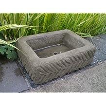 Medio Piedra rectangular Jardinera, efecto de arena Alpino Suculentas