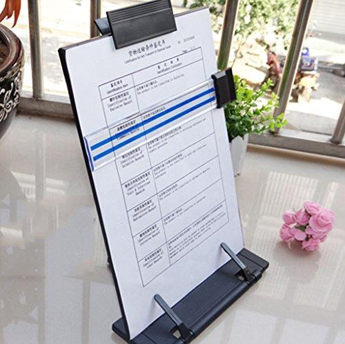JIN PING Beautiful Homes® Soporte de libro, máquina de escribir manuscrito especial de lectura estante marco de lectura suministros de oficina ajustable papelería