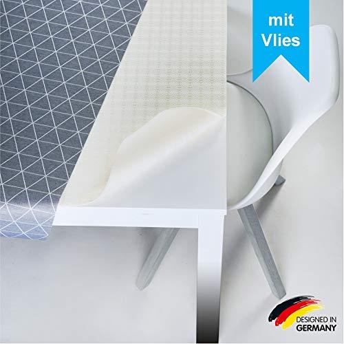LILENO HOME Molton Tischpolster als Tischdeckenunterlage in weiß (110 x 220cm) - wasserdichte u. rutschfeste Tischunterlage als idealer Schutz für Tisch - Unterlage eckig für alle Tischdecken
