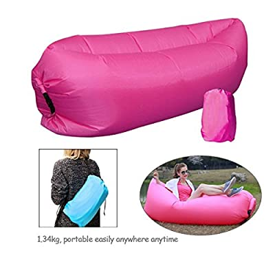 PONFFEAR® Fashion Inflatable Creative Beach Lounger Sleeping Bags Outdoor Indoor Air Beds Compression Air Bag Hangout Bean Bag Portable Chair Air Mattresses Bedding Gift