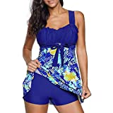 POLP Tankinis Mujer Tallas Grandes Rayas Bikinis Mujer 2019 Braga Alta Vacaciones Ropa de baño Mujer Deportivo Traje de baño Dos Piezas Cintura Alta 2pc
