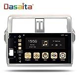 dasaita Android 8.0Auto Stereo-Radio für Toyota Prado 150Octa Core GPS Navigation Auto Head Unit mit Dual IPS Bildschirm Unterstützung OBD Wifi TMPS DVR (Gratis 8g Karte)
