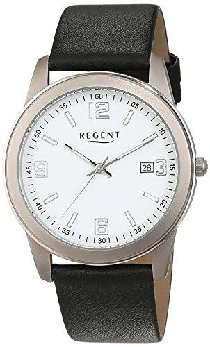 REGENT 11190167 - Reloj de pulsera Hombre, Cuero, color Negro