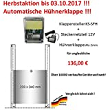 automatische Hühnerklappe mit Klappe/Schieber - Herbstaktion vom Hersteller bis 03.10.17 !!