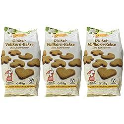Birkengold Dinkel-Vollkorn-Kekse, 3er Pack (3 x 125 g)