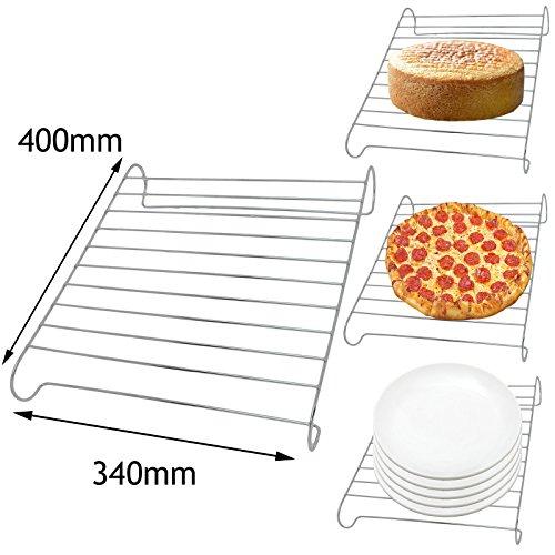 E-herd Wärmer (spares2go Ofen Herd Bodenplatte wärmer Pizza Ständer Kuchen Kühlung Draht Rack (Universal))