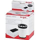 Dirt Devil 2690052092 Filterset,passend für M 2827 -1 bis -2, M 2828 -0 bis -3, Bestehend aus 1 Lamellenzentralfilter, 1 Motorschutzfilter, 1 Ausblasfilter und 2 Filterhülsen