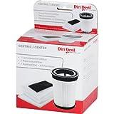 Dirt Devil 2690052092 Filterset,passend für M 2827-1 bis -2, M 2828-0 bis -3, Bestehend aus 1 Lamellenzentralfilter, 1 Motorschutzfilter, 1 Ausblasfilter und 2 Filterhülsen