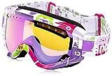 Burton Mädchen Tracker Snowboardbrille, Wildlife/Pink Amber, One size