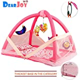 DearJoy Baby Bedding Set / Baby Bedding Set with Mosquito Net and Baby Play Gym with Mosquito Net (Pink Bunny Print)