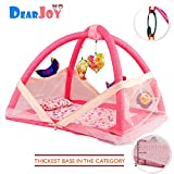 #10: DearJoy Baby Bedding Set/Baby Bedding Set with Mosquito Net and Baby Play Gym with Mosquito Net (Pink Bunny Print)