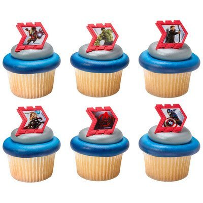 e Cupcake Topper Rings - Set of 12 by Sweetn Treats ()