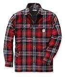 Carhartt Hubbard Shirt mit Webpelzfutter, Größe:L, Farbe:rot
