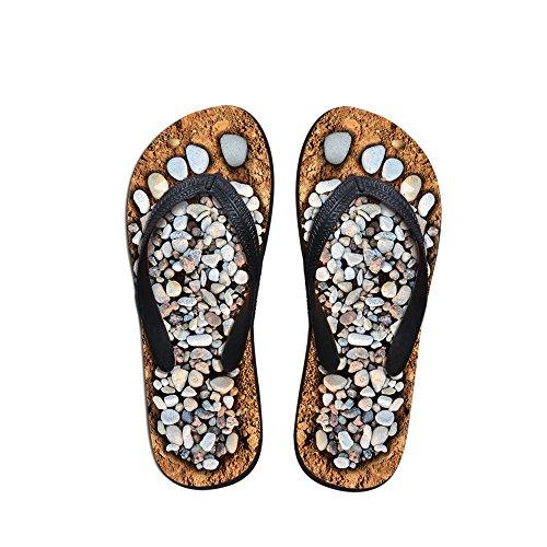 Thikin pour femme/fille/garçon/homme pavés d'impression Unique du Brésil d'été Hot orteil Post Tongs Sandales de plage Piscine différents Styles et couleurs Cobble3