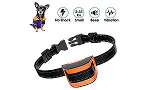 MASBRILL Collares antiladridos de Perro 2.5 a 25 kg Perros pequeños mejorados Smart Chip Collar de Entrenamiento contra ladridos con Sonido y vibración Sin daños