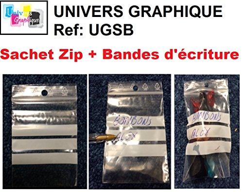500 zip Beutel 40 x 60 mm-Schreibbereich Verschlusstaschen RV 4 x 6 cm auf EWG Standardmarkierung konsistente alimentairet Gefrieren
