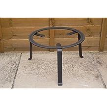 Vaello La Valenciana–Paellera redondo forjado trables, 40cm, acero, negro, 30x 40x 30cm