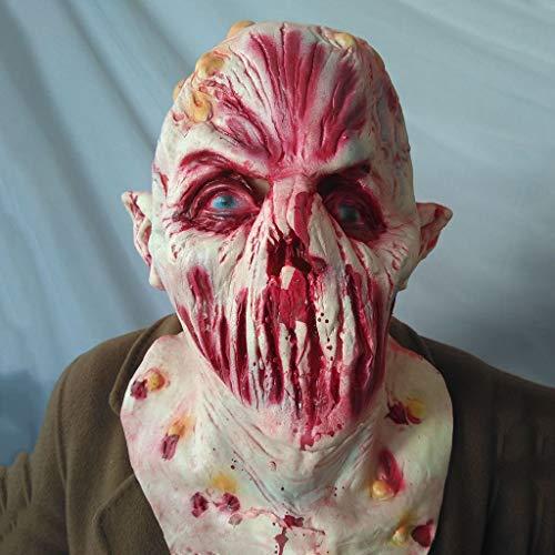 Zombie Kostüm Eine Thriller - Walking Dead Vollkopf Horror Thriller Halloween Maske, Resident Evil Monster Maske, Zombie Kostüm Party Latex Maske für Halloween