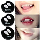 Picture Of wuayi Devil Tooth Fangs Caps Zombie Vampire Werewolf Dentures Halloween Cosplay Party Props (B) 15MM