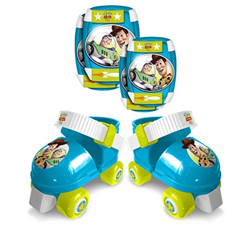 Stamp Sas- Set Patins à Roulettes, C/Genouillères, Toy Story 4 Roller E/K Pads, Color Blue Green, 23-27 (J867035)