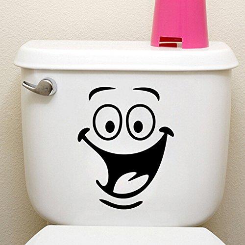 Lustige Animation Big Eyes WC-Wandaufkleber Home Sticker Wohnzimmer Schlafzimmer Küche Kunst Bild DIY Papier Haus Dekoration Tapete
