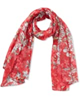 Cream Damen Schal Flower Scarf