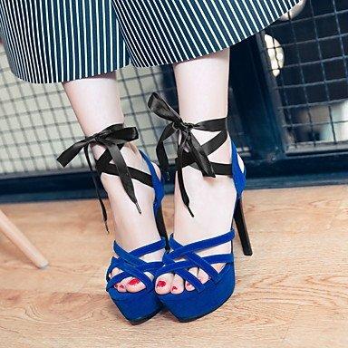 LvYuan Sandali-Formale Casual-Club Shoes-A stiletto-Finta pelle-Nero Blu Rosso Black