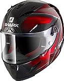 Shark Motorradhelm, Race-R Pro, Carbon, hart, Schwarz/Rot, Größe S