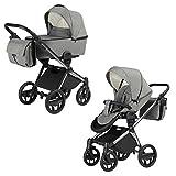Knorr-Baby Premium Kombi-Kinderwagen-Set Life+ graphit