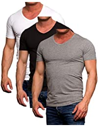 Herren Jack Jones 3er Pack Set T-Shirt Herren Slim Fit Körperbetonend 5c04dfe83b