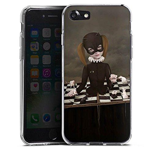 Apple iPhone X Silikon Hülle Case Schutzhülle Schach Maske Mädchen Girl Silikon Case transparent