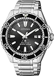 CITIZEN Men's Solar Powered Watch, Analog Display and Stainless Steel Strap BN0190