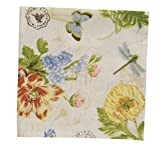 Park Designs Botanical Garden Dinner Napkin, Set of 4 (133-02) by Park Design