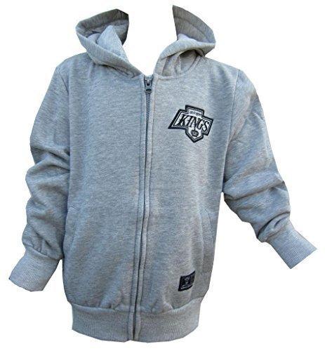 puzenpullover Jungen Majestic blau oder Nationale Hockey Liga 8-1 - grau, 12-13 Jahre (Hockey Kostüme Kinder)