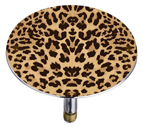 Wenko 207316500 Badewannenstöpsel Pluggy XXL Leopard Abfluss-Stopfen, für alle handelsüblichen Badewannen-Abflüsse, Kunststoff, Mehrfarbig, 7,5 x 7,5 x 6 cm (Leopard Badewanne)