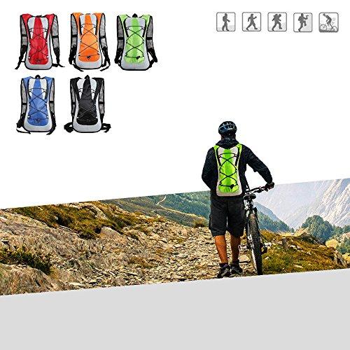 Hydration Rucksack, xhorizon (TM) XH8 Unisex Radfahren Fahrradrucksack Camelbak Wasser Rucksack Backpack Bike AußenSportBlasen Tasche Wandern Klettern Beutel #E-Grün+2L Wasserblase