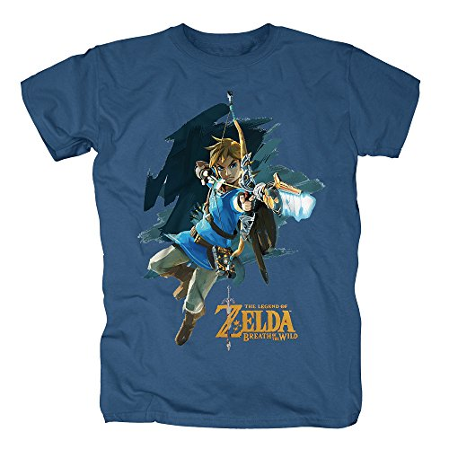 TSP Legends of Zelda - Breath of the Wild T-Shirt Herren M Stahlblau (Legend Of Zelda Kostüm Billig)