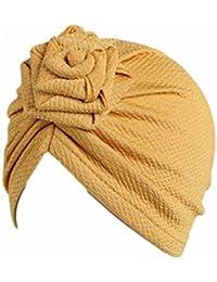 1845923a73dc Tpulling Bonnet Bebe, Enfants bébé Filles Bohème Chapeau écharpe Bonnet  Foulard Turban ...