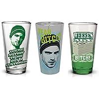 Breaking Bad Jesse Pinkman 16oz Pint Glass Bundle, Set of 3