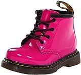Dr. Martens 1460 I, Unisex-Kinder Klassische Stiefel, Pink (Hot Pink Patent Lamper 670), 19 EU