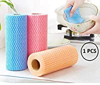 Vachan Creation Nonwoven Reusable Super Absorbent Cleaning Wipes Towel Roll for Kitchen, Pack Of 1 (50 PCS in Sheet) (Blue & Green Color)