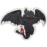 Bügelbild 8,4x4,3cm bunt Drachen Zähmen Dragons Astrid Comic Aufnäher
