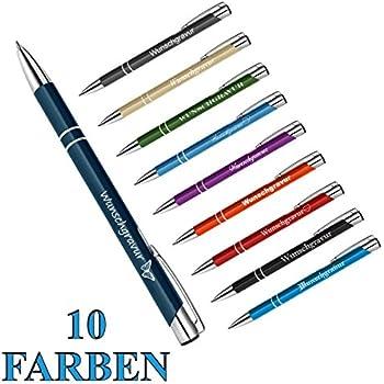 10 x Kugelschreiber aus Metall in der Farbe Antrazit