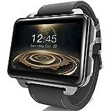 LEMFO LEM4 Pro - 2,2 Zoll Großer Bildschirm Android 3G Smart Watch Telefon, 1200mAh Große Batterie, 1.3MP Kamera, MT6580 Quad Core 1.3Ghz 16 GB ROM, GPS/Pulsmesser/Schrittzähler/Bluetooth/Wifi