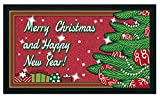 Bavaria Home Style Collection - Fussmatte - Schuhabtreter - Merry Christmas and Happy New Year